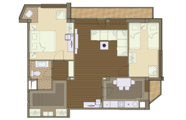 План апартаментов №10 - St. Anton