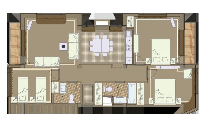 План апартаментов №5 - Sestriere