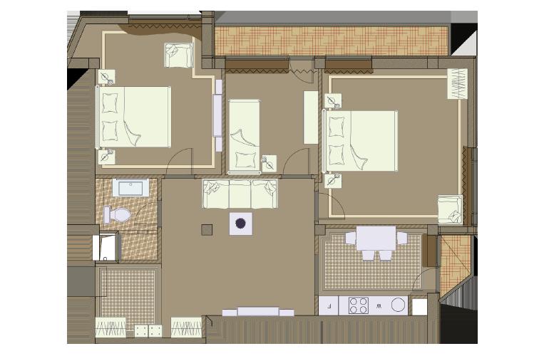 План апартаментов №7 - Chamonix Mont Blanc